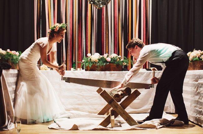 Log Cutting Ceremony