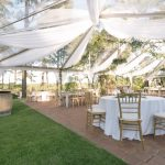 Outdoor Tented Wedding Reception Party Reflections SBG Main J. Christina Photography