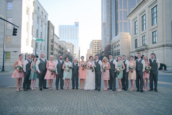 Bridal Party in Downtown Raleigh