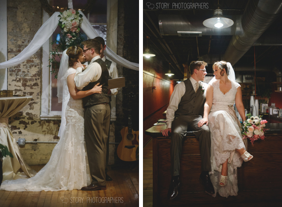 Bride and Groom at The Stockroom