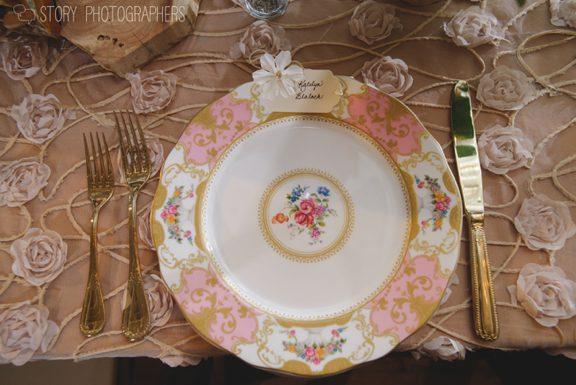 Pink and Gold China