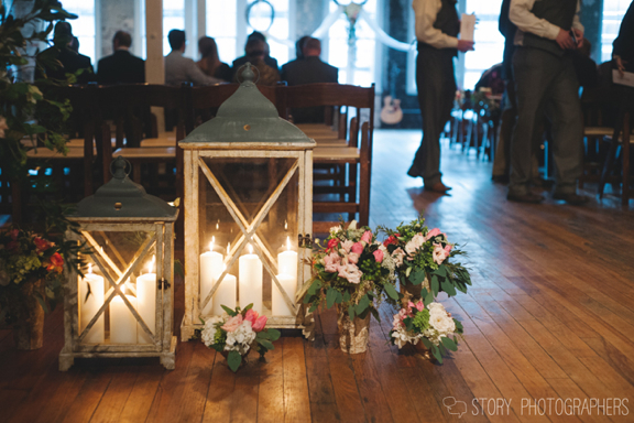 Wedding Ceremony Details at The Stockroom