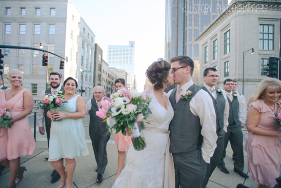 Wedding Party Walking in Raleigh