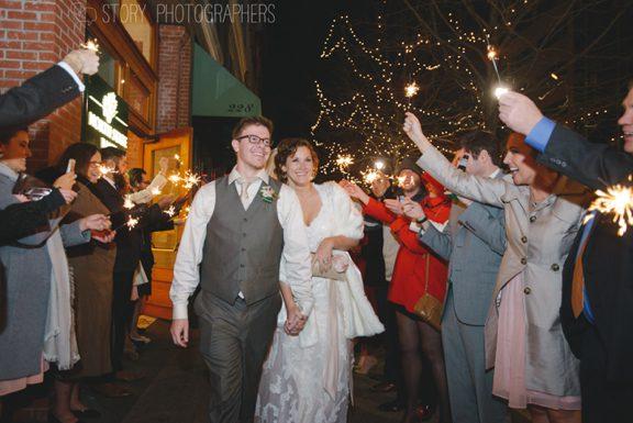 Winter Wedding Grand Exit