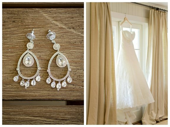 Bridal Gown and Earrings