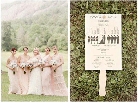 Bridal Party and Wedding Program