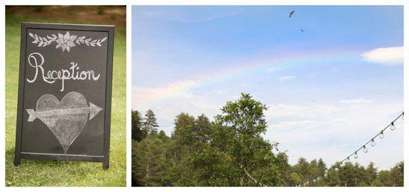 Rainbow During Wedding Ceremony