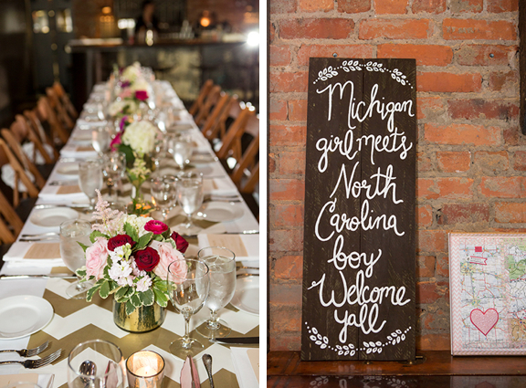 Red Pink and Gold Wedding Decor