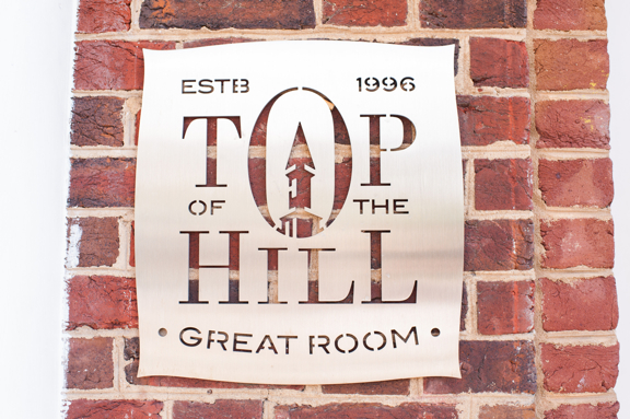Top of the Hill Sign