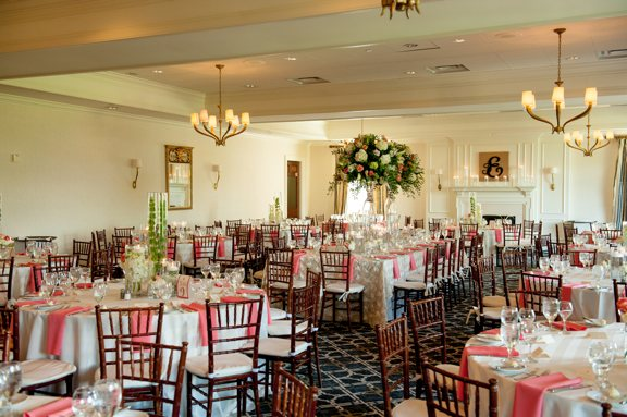 Coral and White Reception at TPC Wakefield