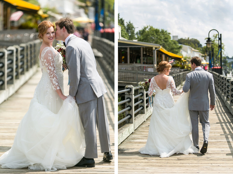 Newlyweds on Wilmington Riverwalk