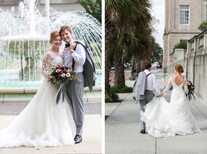 Wilmington Riverwalk Bride Groom Portraits