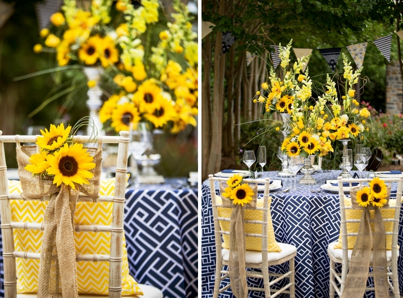Blue and yellow wedding palette inspiration