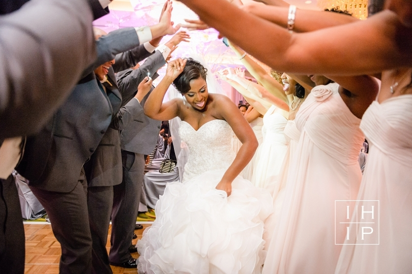 Dancing during reception at Renaissance Raleigh North Hills Hotel