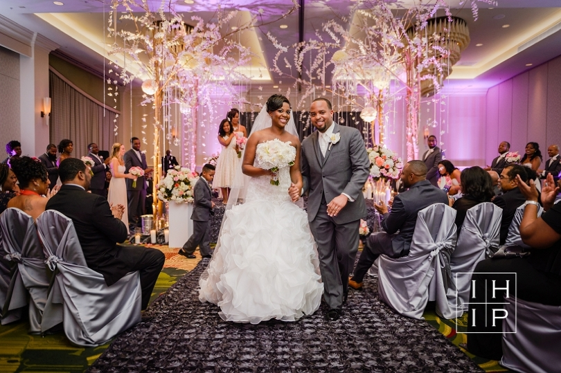 New Years Eve Bride and Groom at Raleigh wedding venue