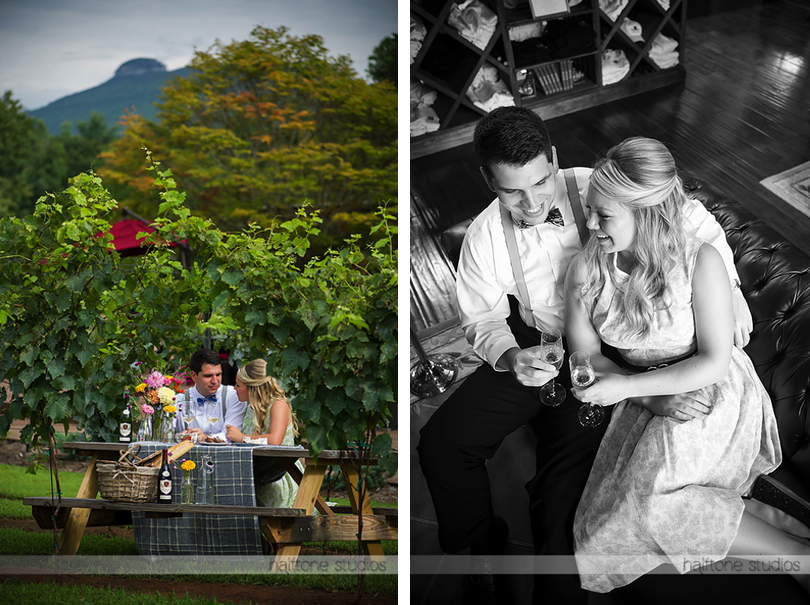 Pilot Mountain NC Winery Engagement
