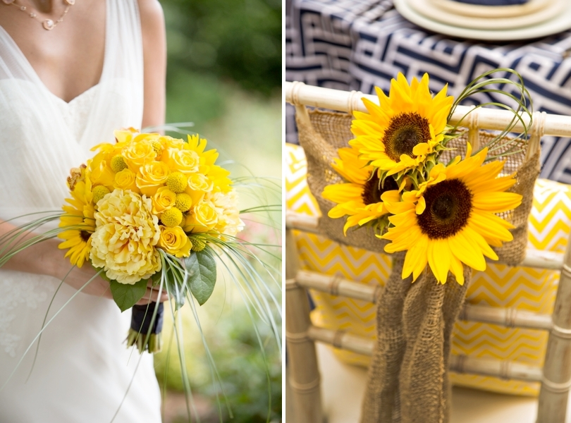 Yellow wedding flower inspirations by Flowers by Gary
