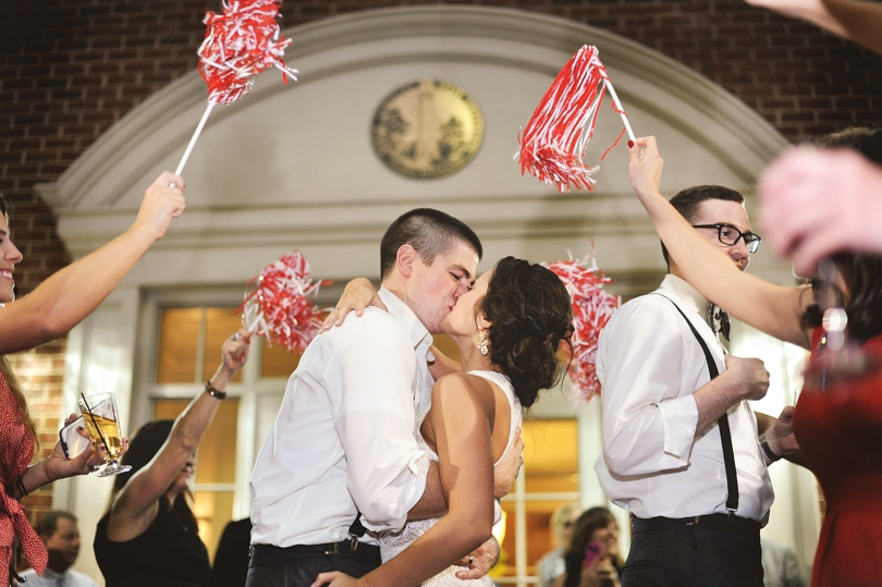 Alma Mater themed wedding in Raleigh