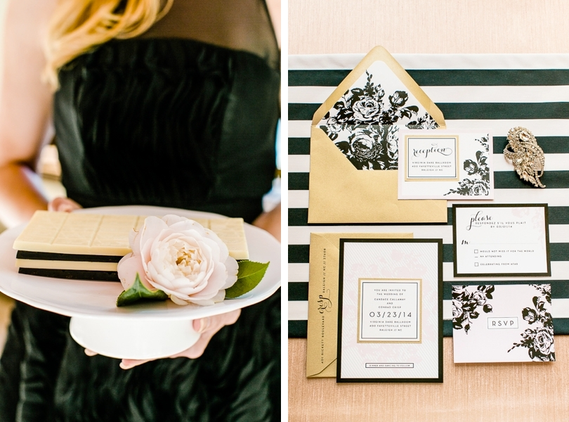 Chanel inspired wedding details and stationary