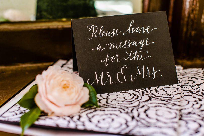 Chanel wedding guestbook