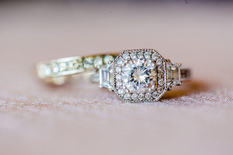 Diamond wedding and engagement ring