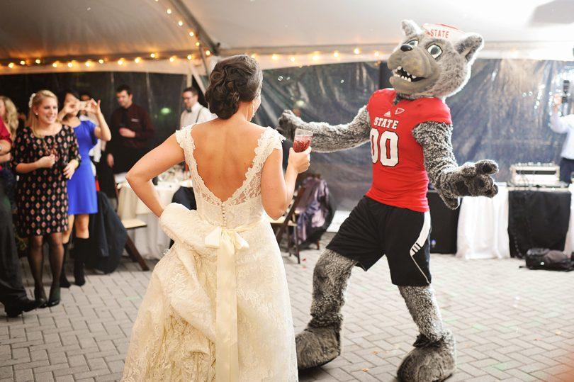 NCSU mascot appearance at wedding