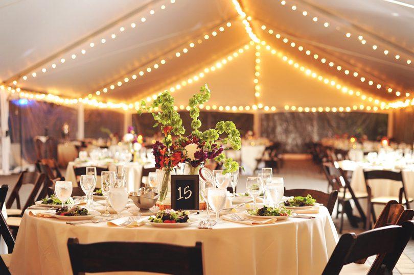 North Carolina fall wedding reception