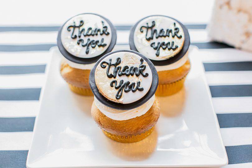 Thank you cupcake wedding favors