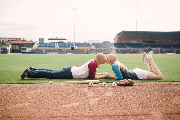 Baseball park photo session