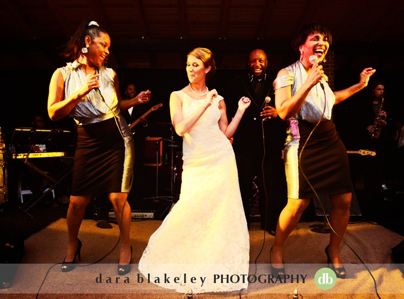 Bride dances with the band