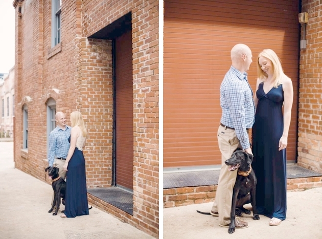 Engagement session at American Tobacco Campus