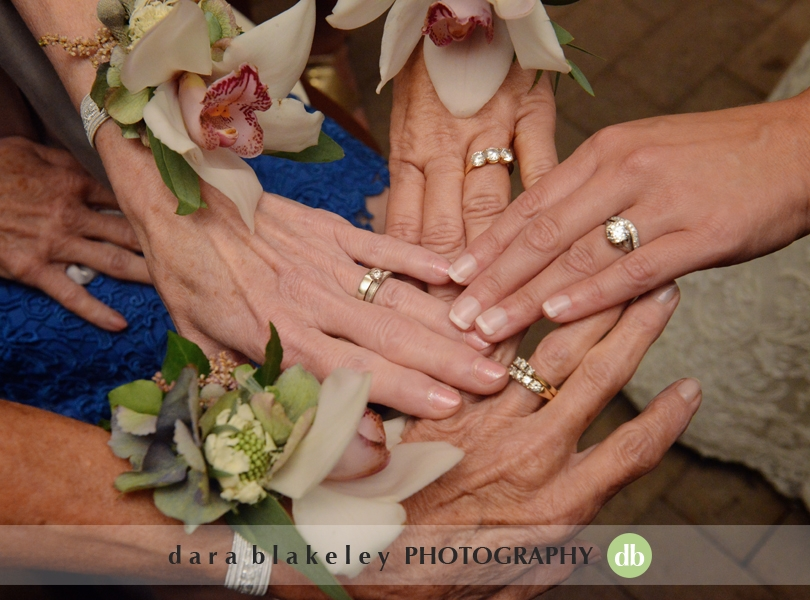 Four generations of wedding rings