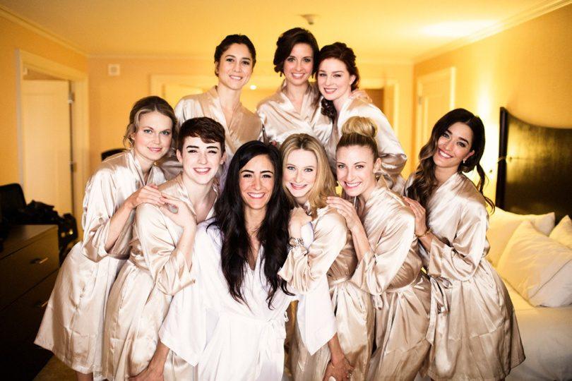 Neutral skin toned bridesmaids