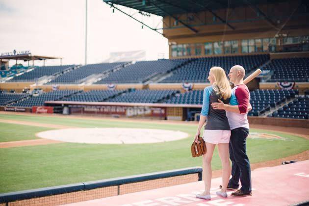 Photo shoot in Durham Ballpark