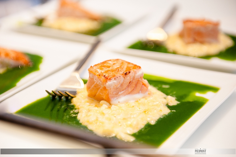 Salmon served by Durham Catering Co