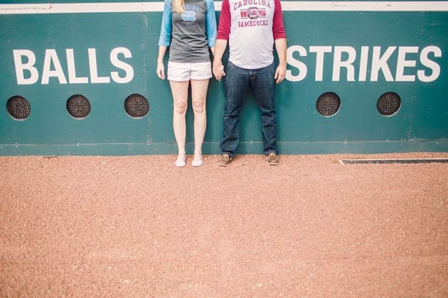 Sports themed engagement session in North Carolina