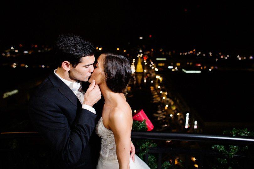 Urban wedding overlooking Raleigh North Carolina