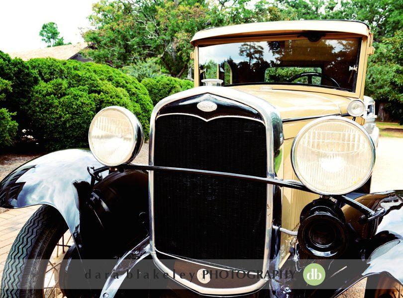 Vintage cars in wedding