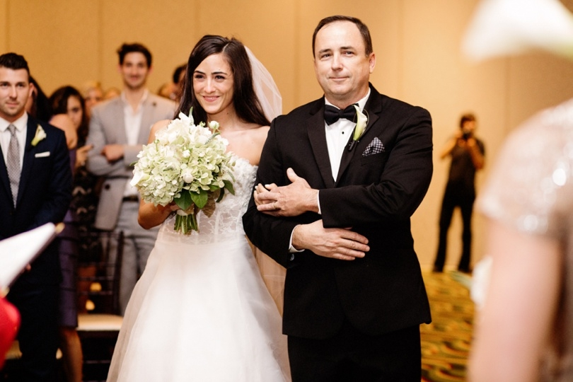 Wedding ceremony at the Renaissance Raleigh North Hills Hotel