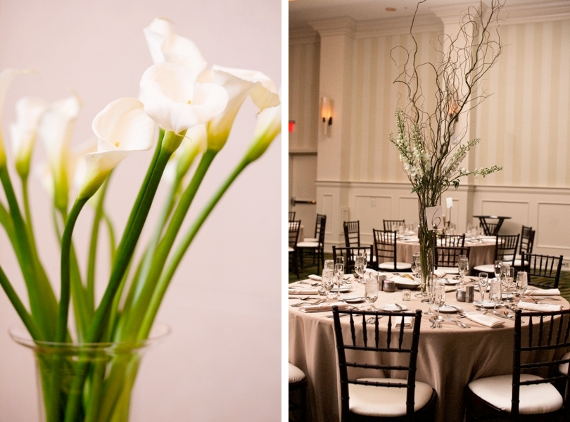 Winter wedding and calla lily floral inspiration