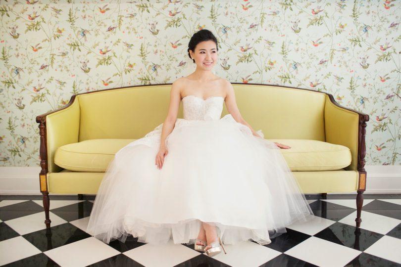 Chapel Hill bride at The Carolina Inn