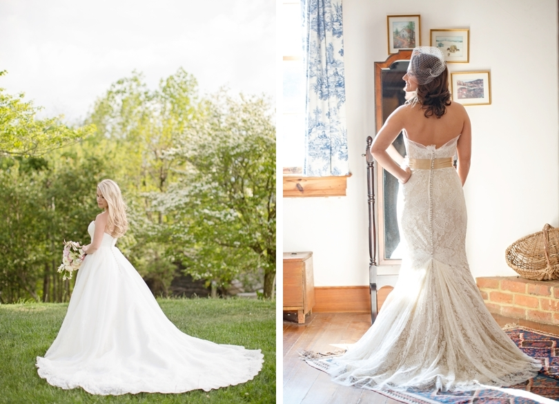 Raleigh NC brides in wedding gowns