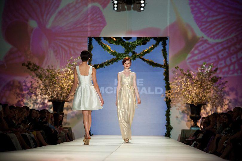 Charleston Fashion Week Kate McDonald gold gown
