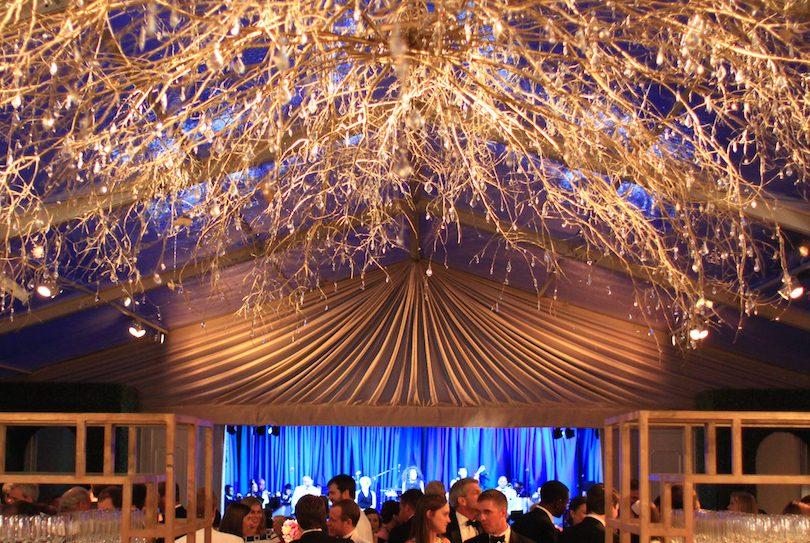 Custom designed lighting for NC wedding