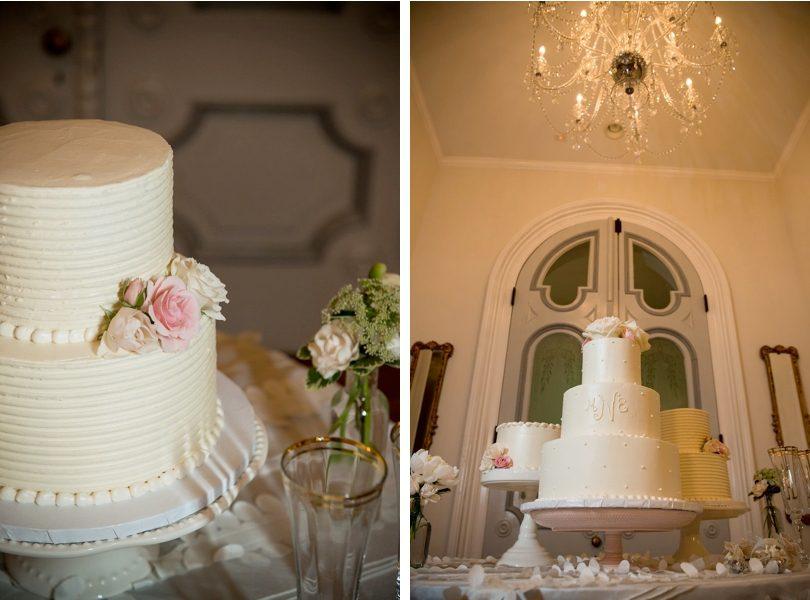 Monogramed wedding cake