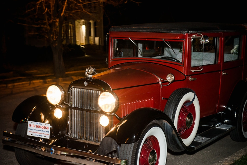 Old fashion car for wedding departure