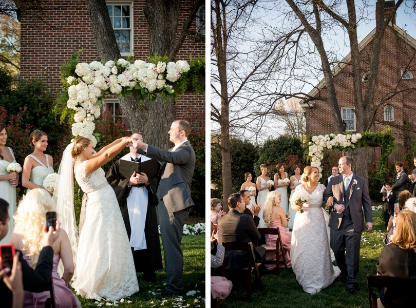 Outdoor spring ceremony at Merrimon Wynne in Raleigh