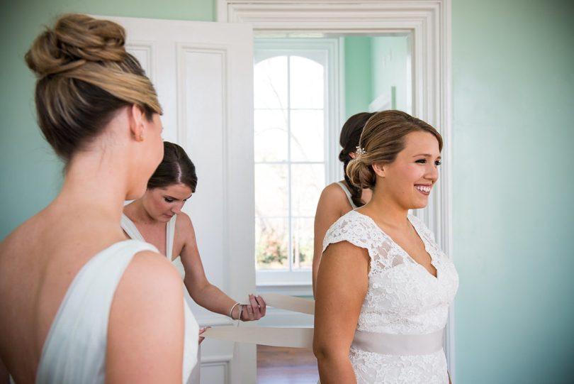 Raleigh bride at Merrimon Wynne House North Carolina