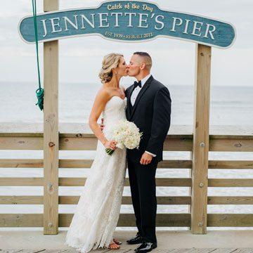 Destination Wedding Venue on OBX Jennettes Pier