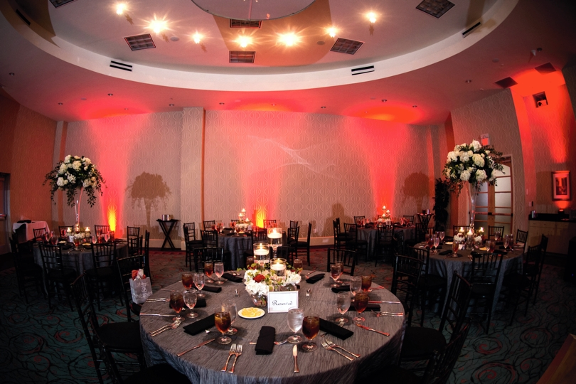 Uplighting at wedding reception